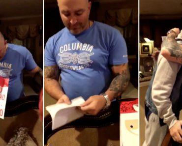Padrasto Recebe Presente De Natal Que o Deixou Em Lágrimas 2
