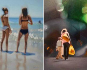 Artista Cria Quadros Hiperrealistas Para Mostrar Como é a Vida Com Miopia 3