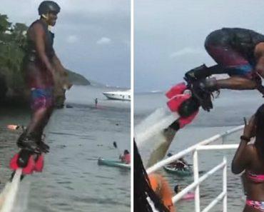 Praticante De Hydro-Jet Falha Miseravelmente Ao Tentar Aproximar-se De Mulher Em Biquíni 4