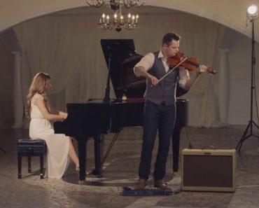 Com Apenas Um Piano e Um Violino Eles Transformam Uma Música Clássica Em Algo Espetacular 7