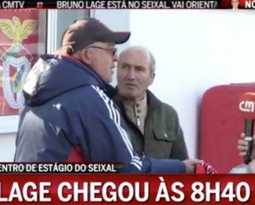 """Adeptos Seniores Do Benfica """"Apertam"""" Com Jornalista Da CMTV 4"""