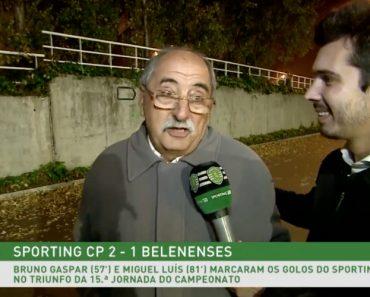Avô De Jogador Do Sporting Emociona-se Ao Sair Do Estádio 1