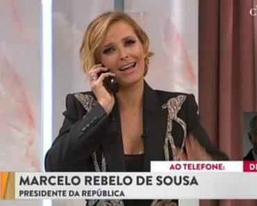 Cristina Ferreira Recebe Telefonema De Marcelo Rebelo De Sousa, Na Estreia Do Programa Na SIC 6