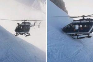 Piloto Faz Incrível Manobra Na Neve Com Helicóptero Para Resgatar Homem Ferido 7