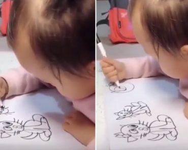 Bebé Ainda Mal Sabe Como Se Agarra Numa Caneta, Mas Já Desenha Como Gente Grande! 2