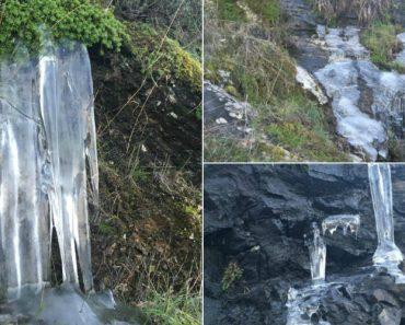 Frio Na Vila De Vimioso Em Bragança: Até a Água Congelou 6