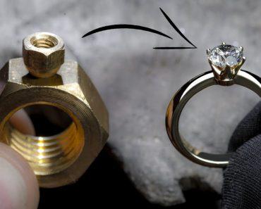 Com Duas Porcas Fez Um Belíssimo Anel De Diamantes 6