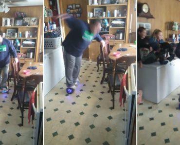 Apenas Um Homem Pouco Confiante a Experimentar Subir Num Hoverboard 9
