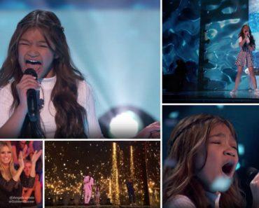 """Angelica Hale Regressa Ao America's Got Talent Com """"Fight Song"""" e Recebe o Botão Dourado! 3"""