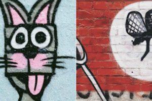 Artistas Em Berlim Usam a Criatividade Transformando Graffitis Nazis Em Simpáticas Imagens 10