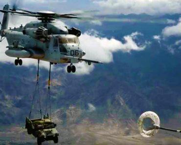 Filmagem Mostra Momento Em Que Helicóptero é Abastecido No Ar Enquanto Transporta Um Hummer 3