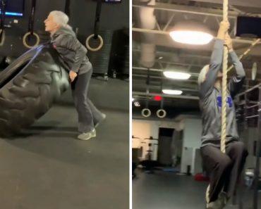 Tem 72 Anos, Mas Isso Não a Impede De Ser Uma Inspiração No Ginásio 8