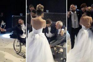Noivo Levanta-se Da Cadeira De Rodas e Dança De Pé Com a Esposa No Dia Do Casamento 5