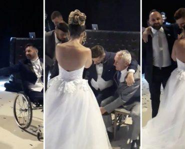 Noivo Levanta-se Da Cadeira De Rodas e Dança De Pé Com a Esposa No Dia Do Casamento 27