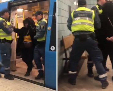 Mulher Grávida Retirada à Força Do Metro Causa Indignação Na Suécia 2