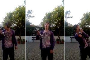 Jovem Português a Treinar Com a Presença Do Pássaro Maluco 10