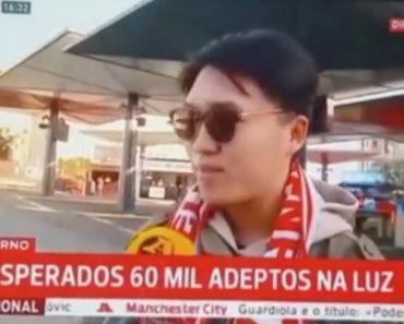Adepto Chinês Explica Porque Gosta Do Benfica 6