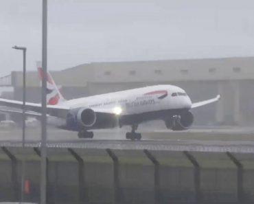 Medonho? Avião Falha Aterragem Devido Aos Ventos Fortes 4