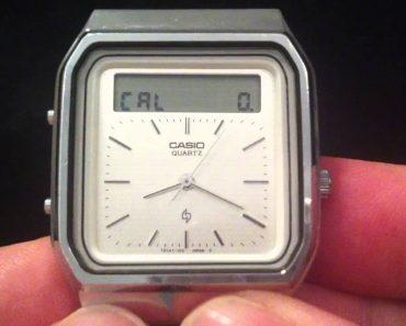 Raro Relógio Casio De 1984 Com Calculadora Incluída Que Funciona Com Touchscreen 1