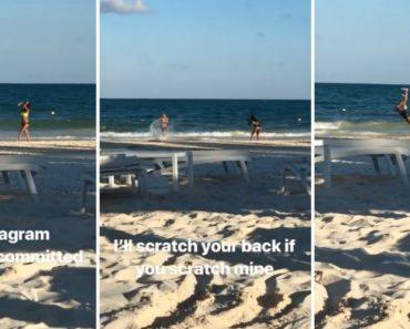 Todo o Trabalho De Produção De Um Casal Na Praia Para Criar Conteúdo Para o Instagram 9