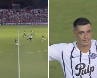 """Óscar """"Tacuara"""" Cardozo Marca Golaço Do Meio-Campo 3"""