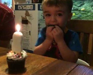 Encantador Momento Em Que Menino De 2 Anos Não Consegue Apagar a Vela Do Seu Aniversário 3