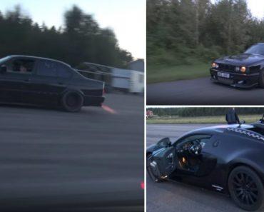 Condutor De Bugatti Veyron Não Esperava o Poder Feroz De Um Velhinho BMW M5 E34 Turbo 9