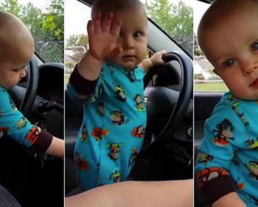 Adorável Bebé De 1 ano Insiste Em Aumentar Volume Do Rádio Para Dançar Hip Hop 9