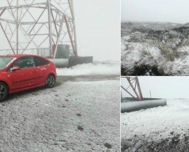 Nevou Nas Ilhas Açorianas Das Flores e Do Corvo 6