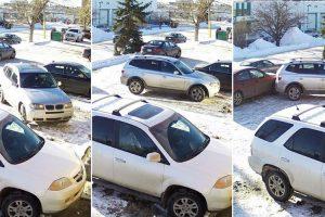 A Pior Condutora Do Canadá Filmada a Sair De Espaçoso Estacionamento 10