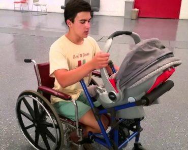 Jovem De 16 Anos Cria Cadeira De Rodas Especial Para Que Mãe Com Deficiência Possa Transportar o Seu Bebé 9