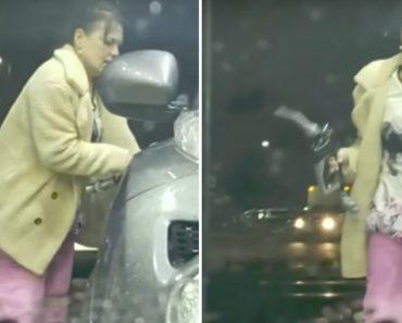 Mulher Extremamente Distraída Não Entende Porque a Bomba De Gasolina Não Funciona 7