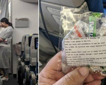 Mãe Que Viaja Com Filho Bebé De Avião Oferece Doces e Tampões Aos Passageiros 7