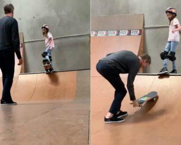 Mítico Tony Hawk Ajuda a Filha a Superar o Medo Do Skate 9