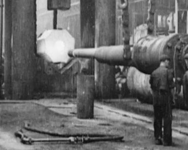 Filmagem De 1908 Mostra a Construção De Um Canhão De Navio 7