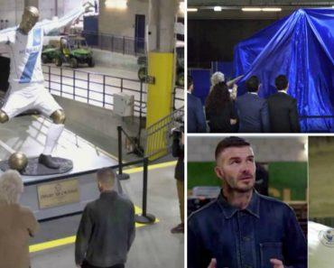 David Beckham Fica Em Choque Ao Ver Estátua Que o LA Galaxy Preparou Em Sua Homenagem 3