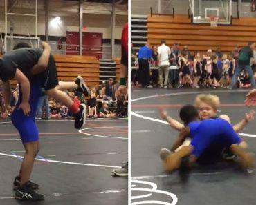 Sessão De Wrestling Entre Crianças Termina Com Intenso Body Slam 4