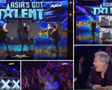 Ninguém Esperava Pelo Resultado Desta Pintura Feita Por Estes Bailarinos No Asia's Got Talent 4