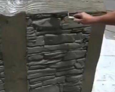 Como Fazer Um Muro De Pedra, Sem Usar Pedra 6