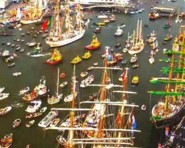 Timelapse Capta a Impressionante Azáfama No Porto De Amesterdão 1