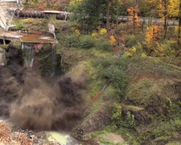 Impressionante Drenagem De Barragem Em 2 Minutos Com Incríveis Explosões 5