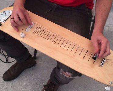 Homem Transforma Skate Em Guitarra e o Som é Incrível! 4