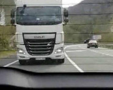 Camionista Persegue e Pressiona Família Do Carro Da Frente e Acaba Sem Carta De Condução 1