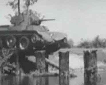Filmagem Antiga Mostra As Incríveis Capacidades De Um Antigo Tanque De Guerra Soviético 9