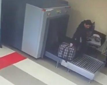 Passageiro Fica Confuso Com o Scanner De Bagagem Do Aeroporto 3