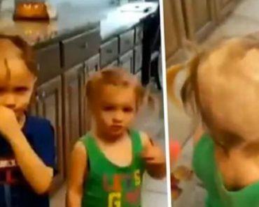 Mãe Deixou Os Filhos Sozinhos Por Alguns Minutos e Eles Decidem Brincar Com Máquina De Barbear 3