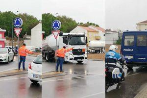 Camionistas Escoltados Pela GNR Desistem De Obedecer Ao Patrão 10