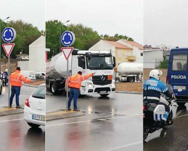 Camionistas Escoltados Pela GNR Desistem De Obedecer Ao Patrão 7