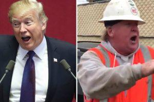 Sósia Operário De Trump Faz Incrível Imitação 9