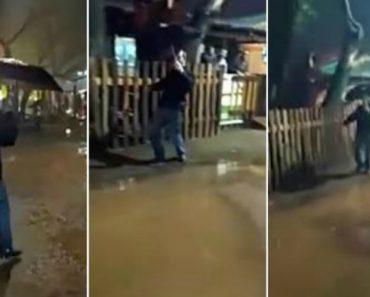 """Homem Embriagado Faz a Dança Perfeita Para o Tema """"Singing In The Rain"""" 9"""